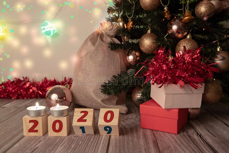 Happy New 2020 Year greetings stock photography