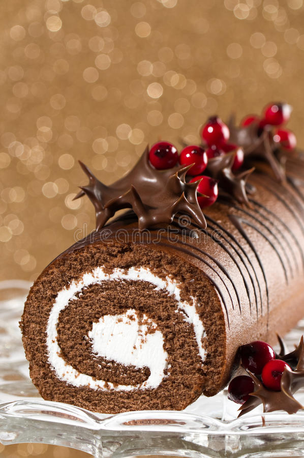 Free Decorated Christmas Roulade Royalty Free Stock Image - 11580756