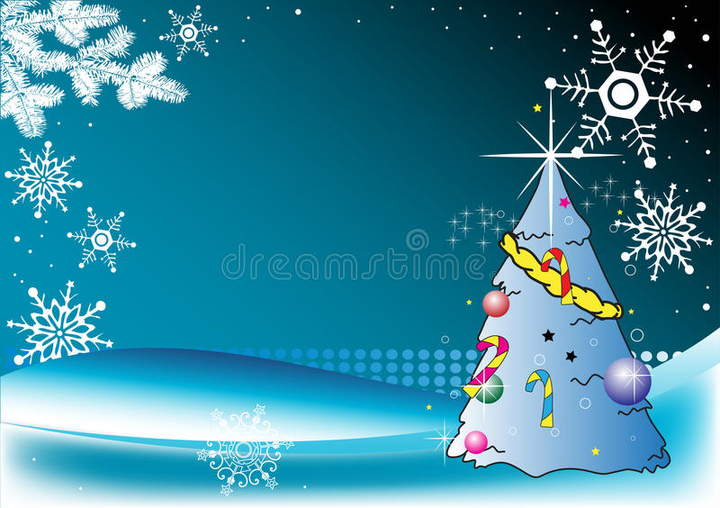 Download Decorated Christmas tree stock vector. Image of flakes - 12218432