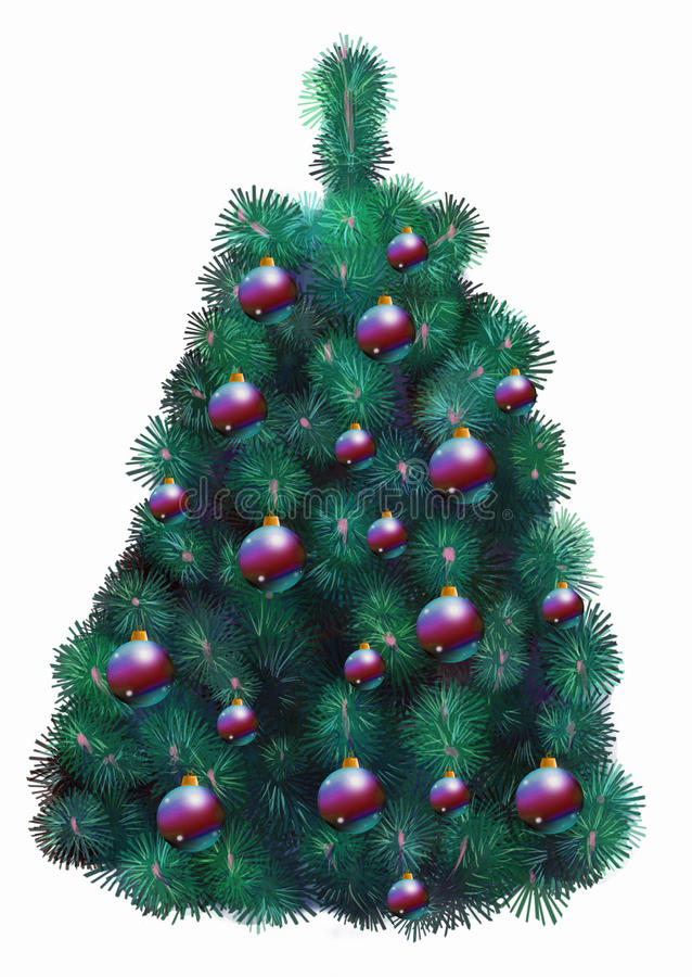Download Decorated Christmas Tree Stock Photo - Image: 18747950
