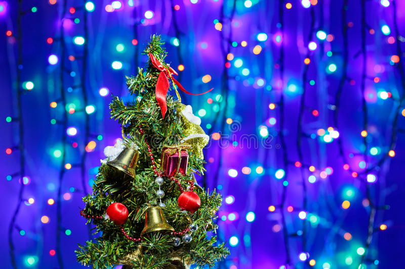 Download Decorated Christmas tree stock photo. Image of field - 26936758