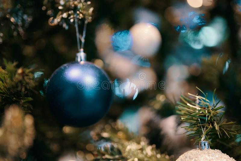 Decorated Christmas tree. royalty free stock image