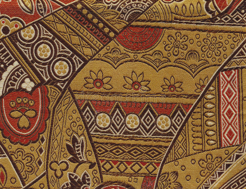 Decorated Cloth Texture Royalty Free Stock Photo