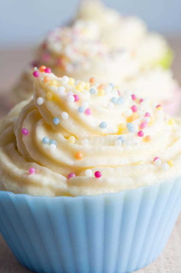 Free Decorated Cup Cakes Close Up Stock Photo - 25233610