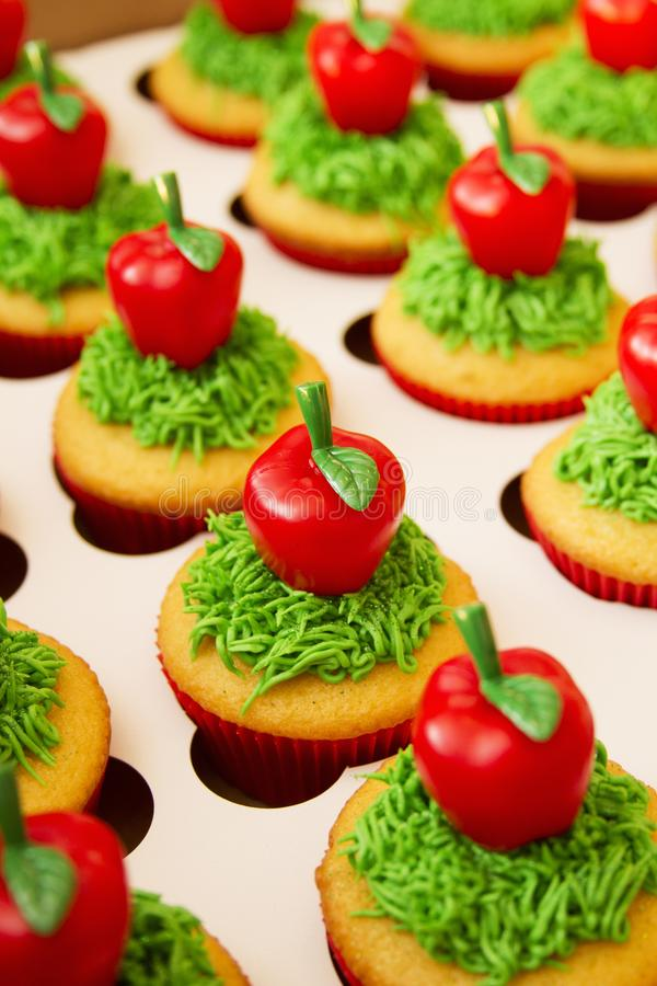 Decorated Cupcakes Food royalty free stock image