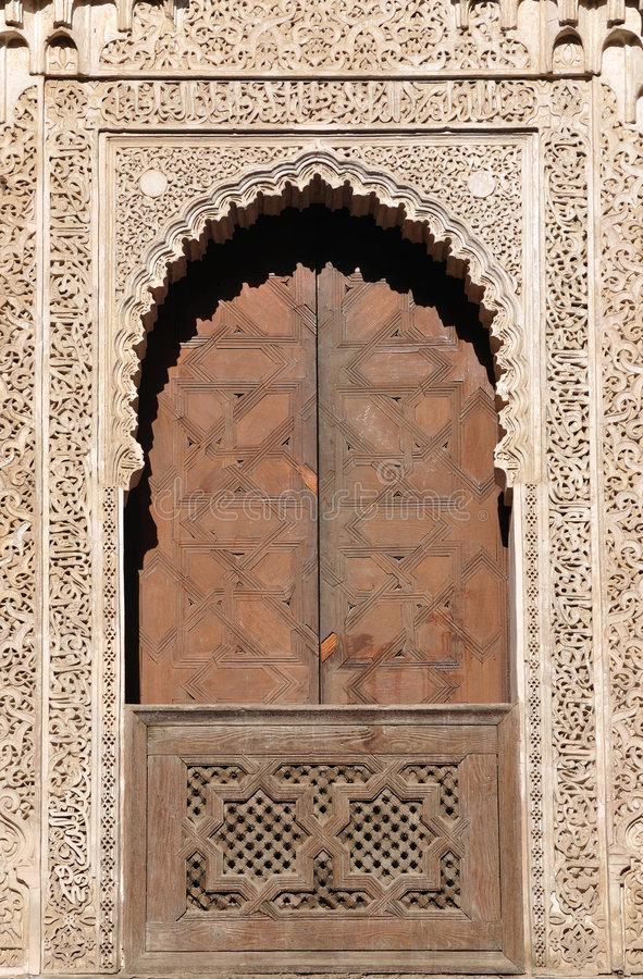 Download Decorated Door In Fes Morocco Stock Image - Image: 7642355