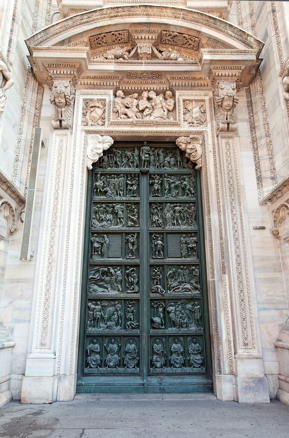 Download Decorated Doors Of Milan Cathedral. (Duomo Di Milano) Stock Photo - Image & Decorated Doors Of Milan Cathedral. (Duomo Di Milano) Stock Photo ...