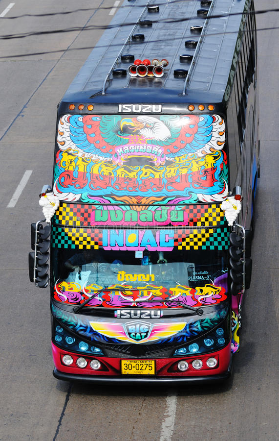 Download Decorated Double-decker Bus. Editorial Image - Image: 27903375