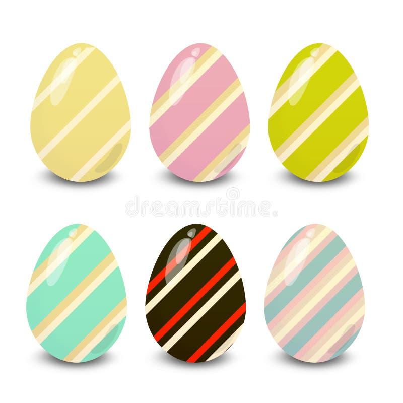 Easter colorful  eggs illustration. Easter eggs. Illustration isolated with background easter eggs with ornament, element for design,  illustration stock illustration