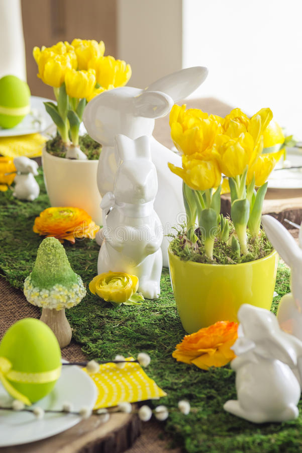 Free Decorated Easter Table Royalty Free Stock Image - 52179846