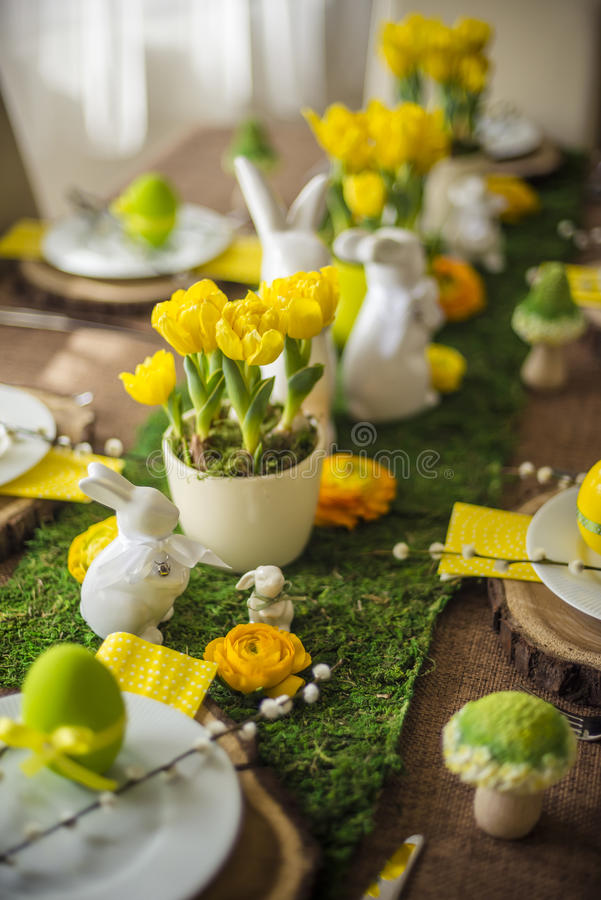 Free Decorated Easter Table Royalty Free Stock Photography - 52179927