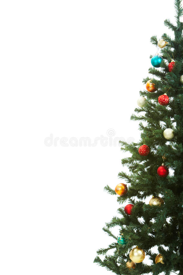 Decorated firtree stock image