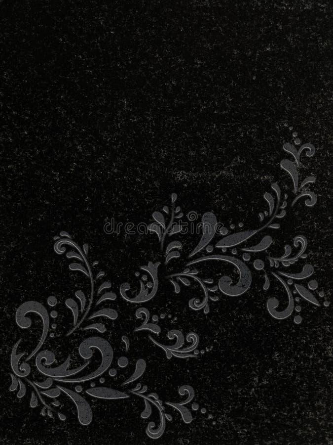 Decorated Granite Gravestone Stock Images