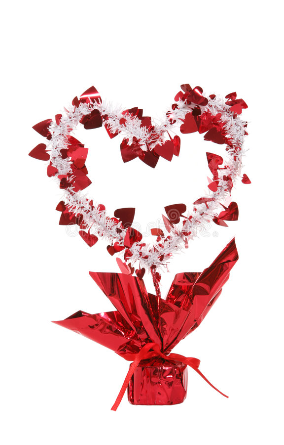 Download Decorated heart stock image. Image of valentine, tinsel - 1866703
