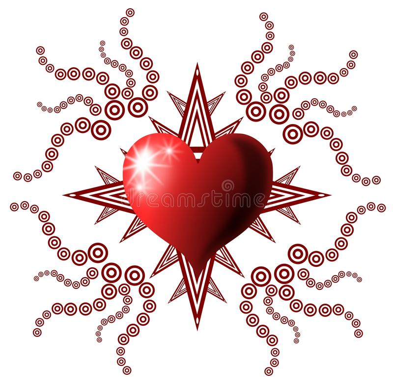 Download Decorated heart stock illustration. Image of greeting - 19657755