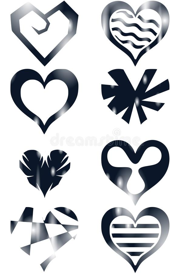 Download Decorated hearts stock illustration. Image of background - 28944542