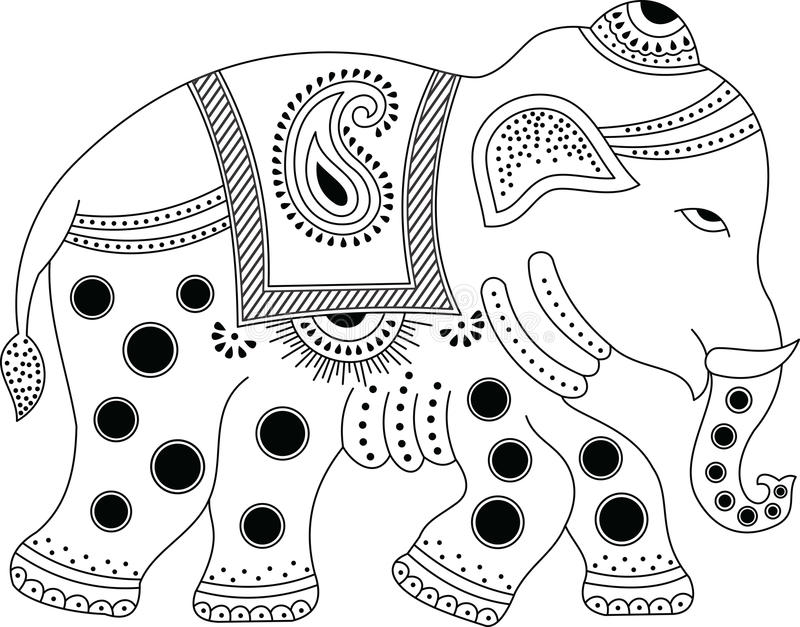 Download Decorated indian elephant stock vector. Image of isolated - 28426464