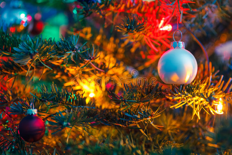 Download Decorated x-mas tree stock image. Image of ball, tinsel - 27472673