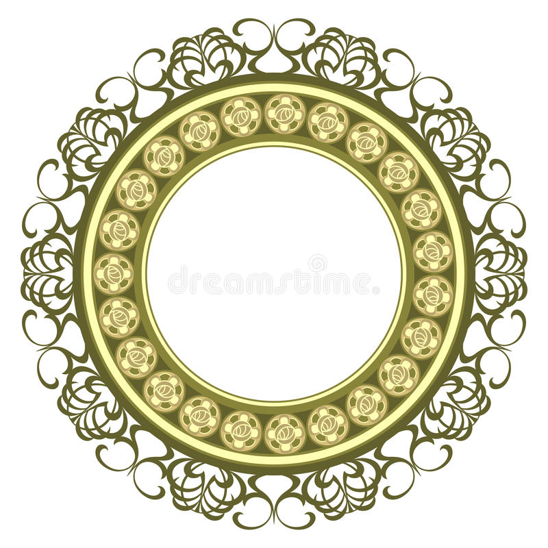 Download Decorated medallion frame stock vector. Illustration of rose - 14790578