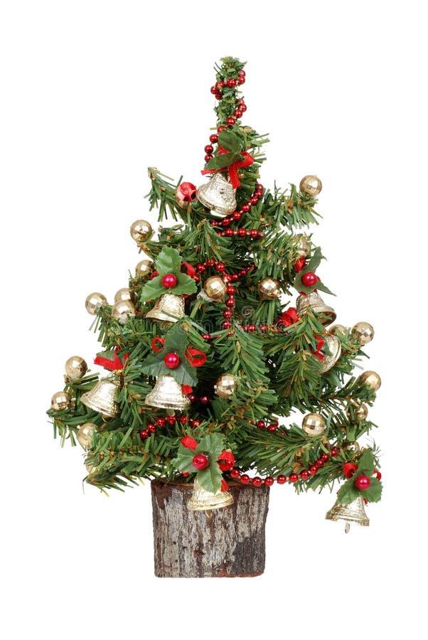 Decorated mini christmas tree royalty free stock image