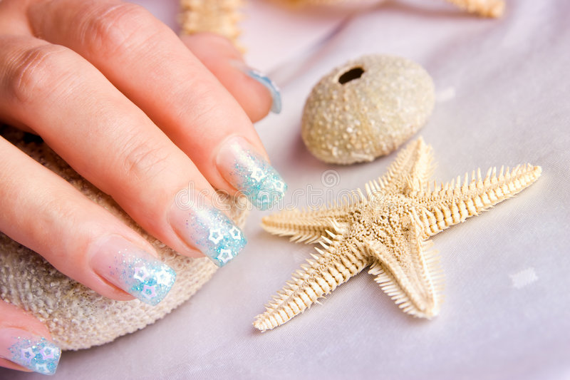 Decorated Nails Royalty Free Stock Image