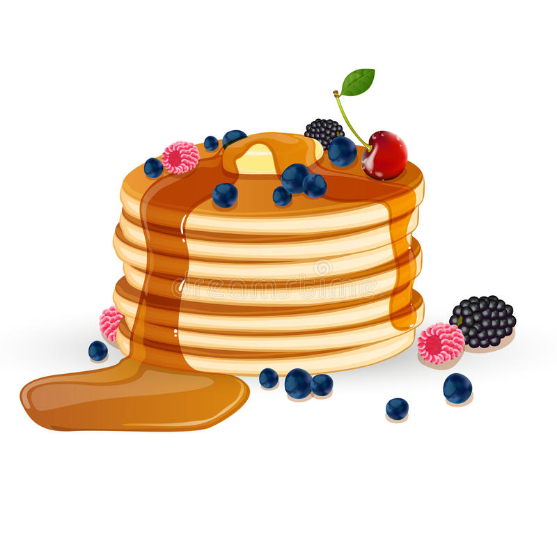 Download Decorated Pancakes stock illustration. Image of carbohydrates - 25861124