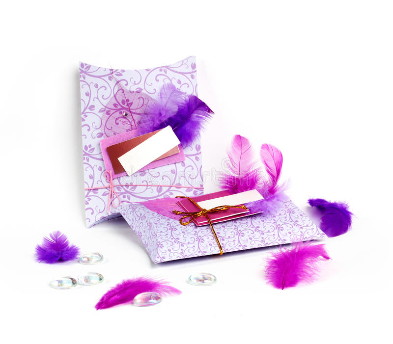 Decorated presents stock photo