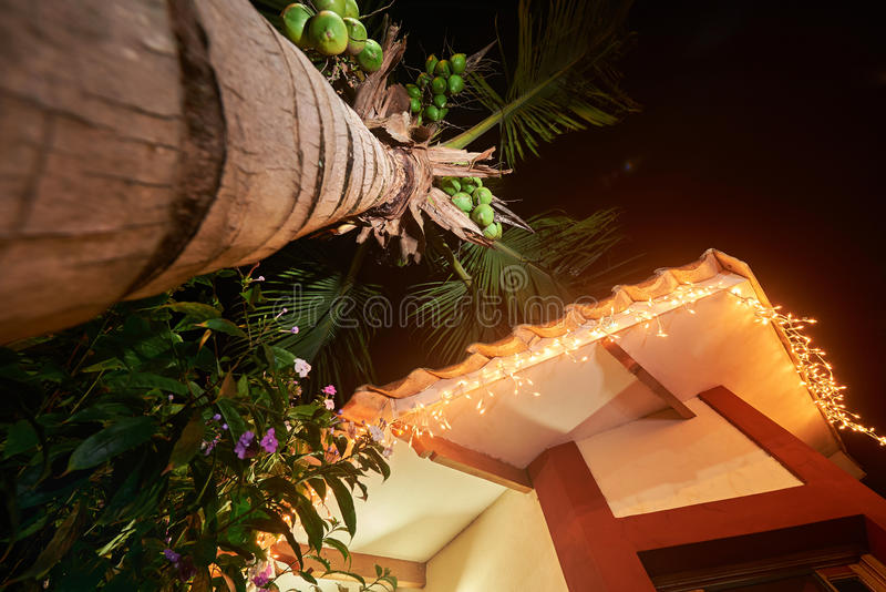 Decorated roof of house stock photos