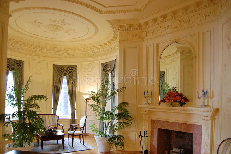 Decorated Room in Boldt Castle, Upstate New York royalty free stock photo