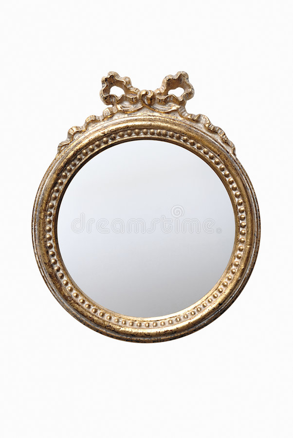 Download Decorated round mirror stock photo. Image of barocco, rounded - 3320880