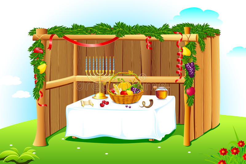Decorated Sukkah royalty free illustration