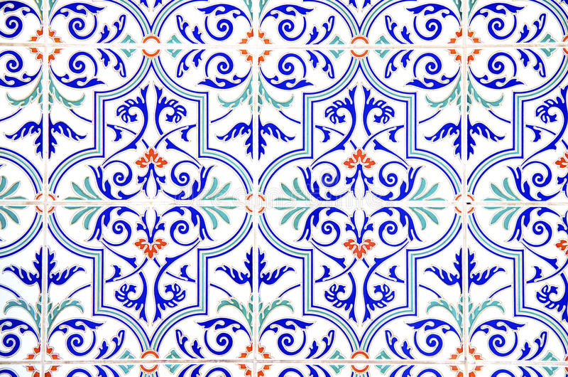 Decorated Tiles Stock Photos