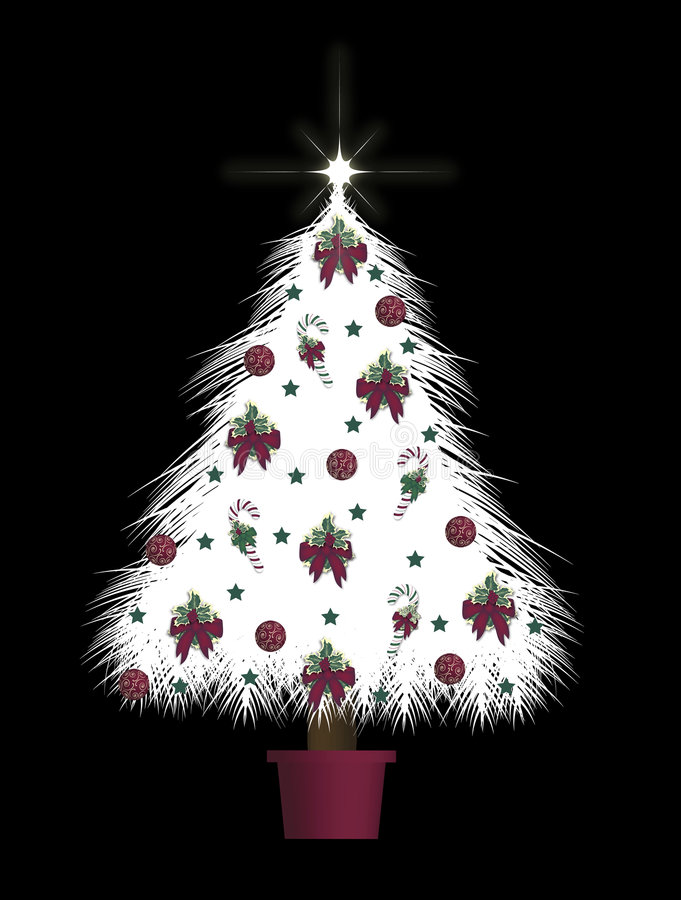 Download Decorated Tree Stock Image - Image: 7242381