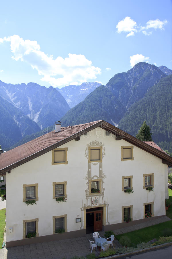Decorated Tyroler house in Assling, Austria stock images
