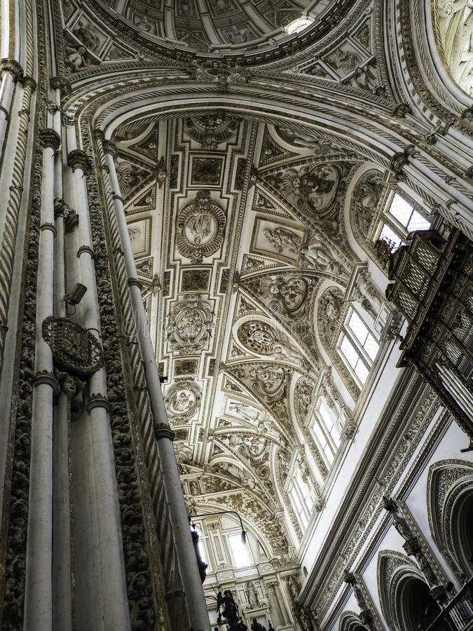 Vaulted ceiling Cordoba Catheral stock images