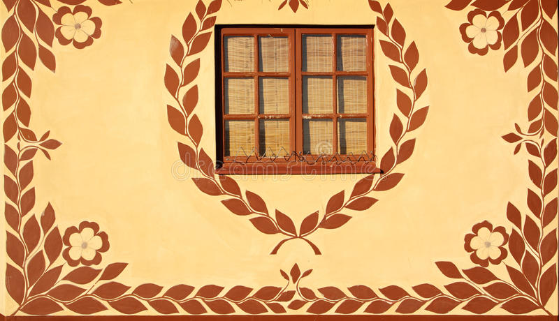 Download Decorated wall stock image. Image of ethnic, window, culture - 15701047