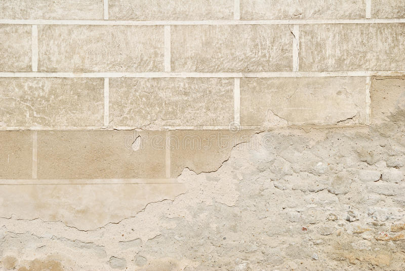Decorated Wall Plaster Flaking Texture Stock Photography