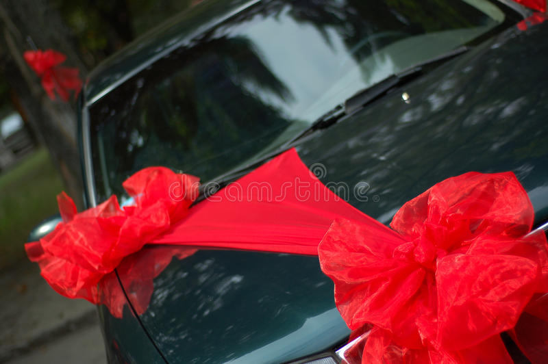 Download Decorated wedding car stock photo. Image of ribbon, decorate - 21247674