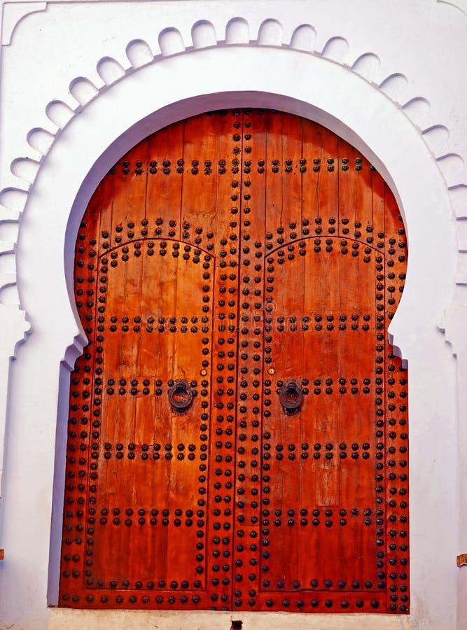 Decorated wooden door