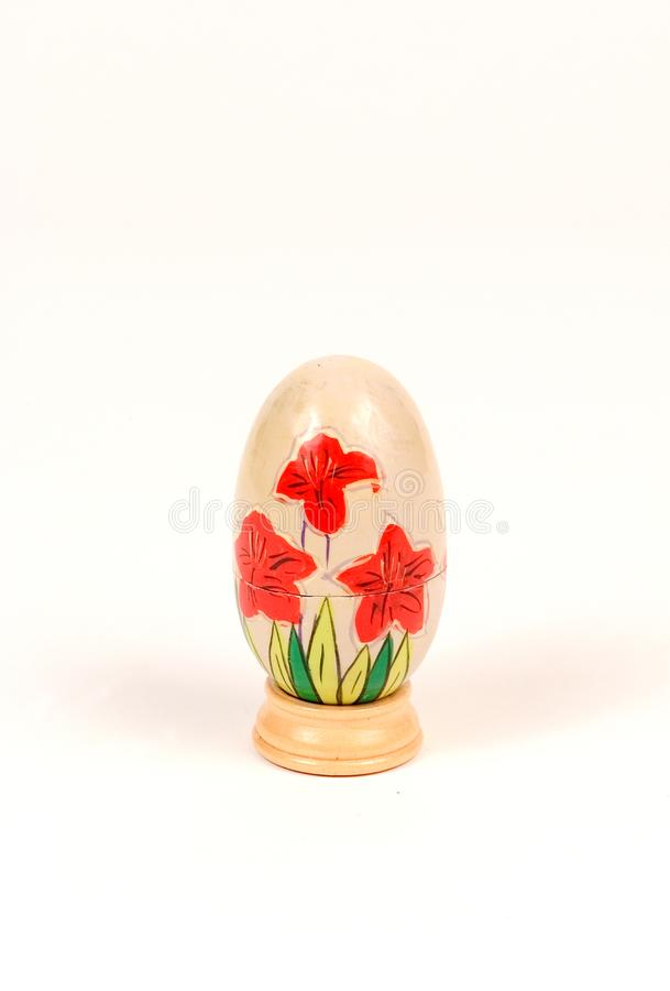 Download Decorated wooden egg stock photo. Image of stand, painted - 12538