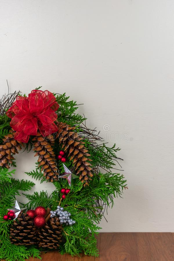 A decorated wreath for Christmas royalty free stock photography