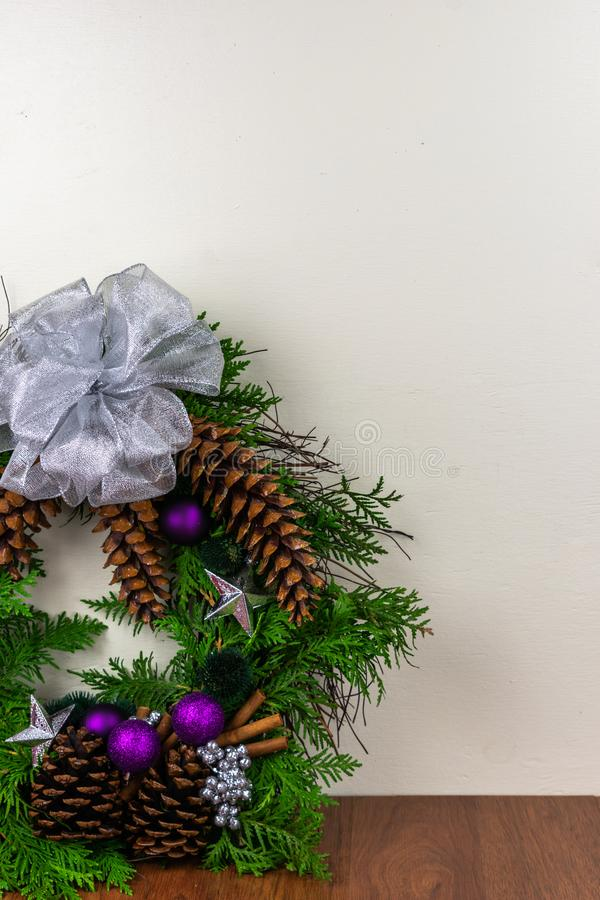 A decorated wreath for Christmas royalty free stock photos