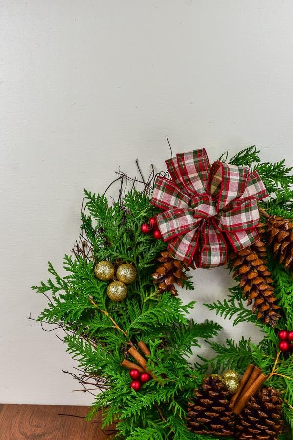 A decorated wreath for Christmas stock photos