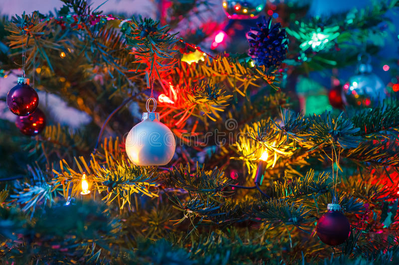 Decorated X-mas Tree Stock Photos