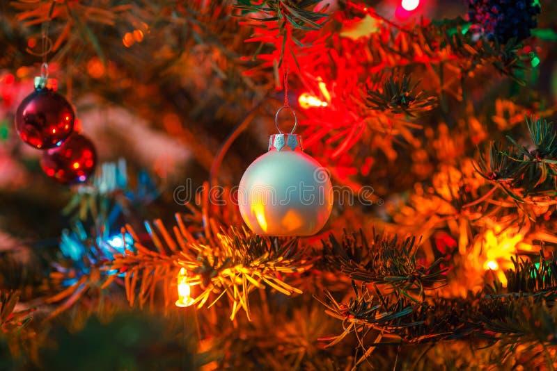 Decorated X-mas Tree Royalty Free Stock Photo