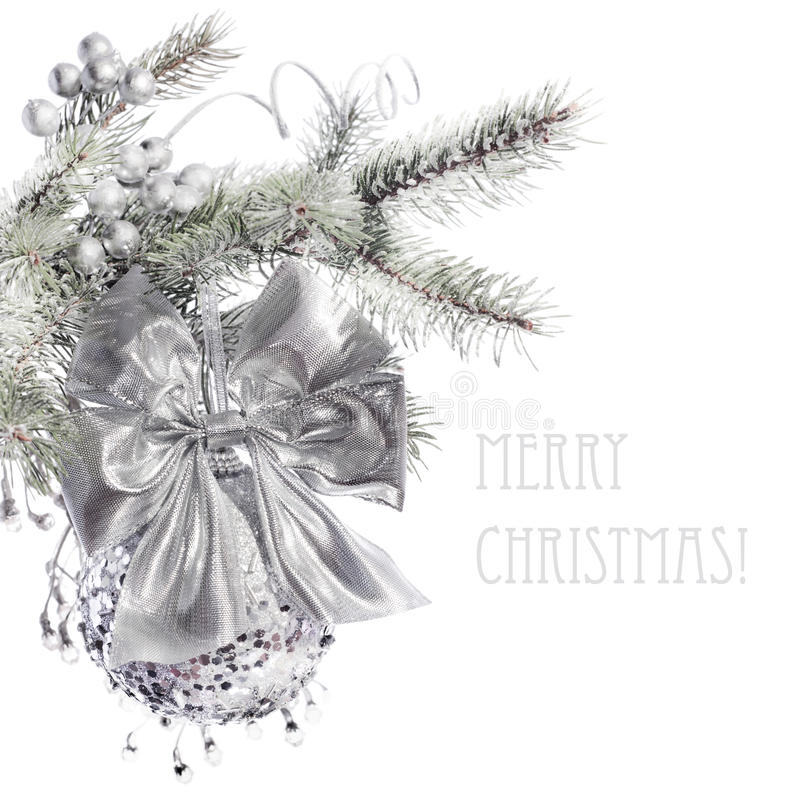 Download Decorated Xmas tree branch stock photo. Image of festive - 27431352