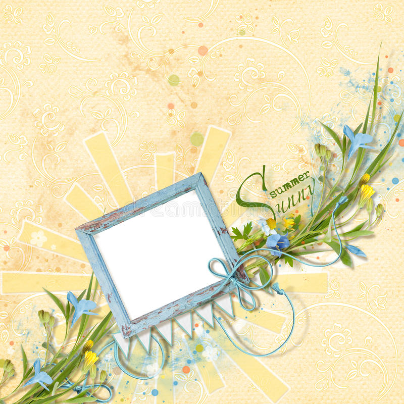 Decoratibe-Rahmen für Foto in der Einklebebuchart stock abbildung