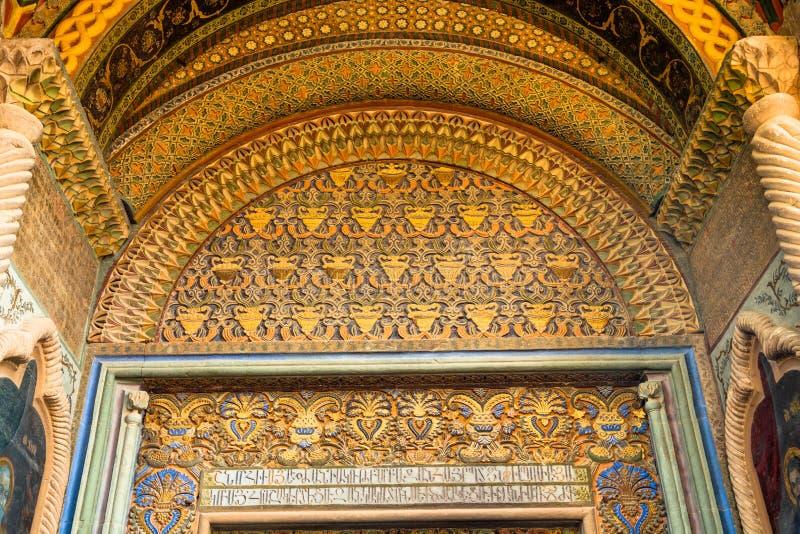 Decoratie binnen de klokketoren bij Echmiadzin-Kathedraal royalty-vrije stock fotografie