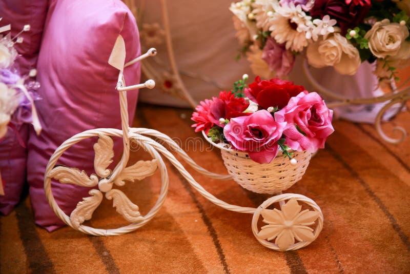 Decoratie met bloem royalty-vrije stock afbeelding