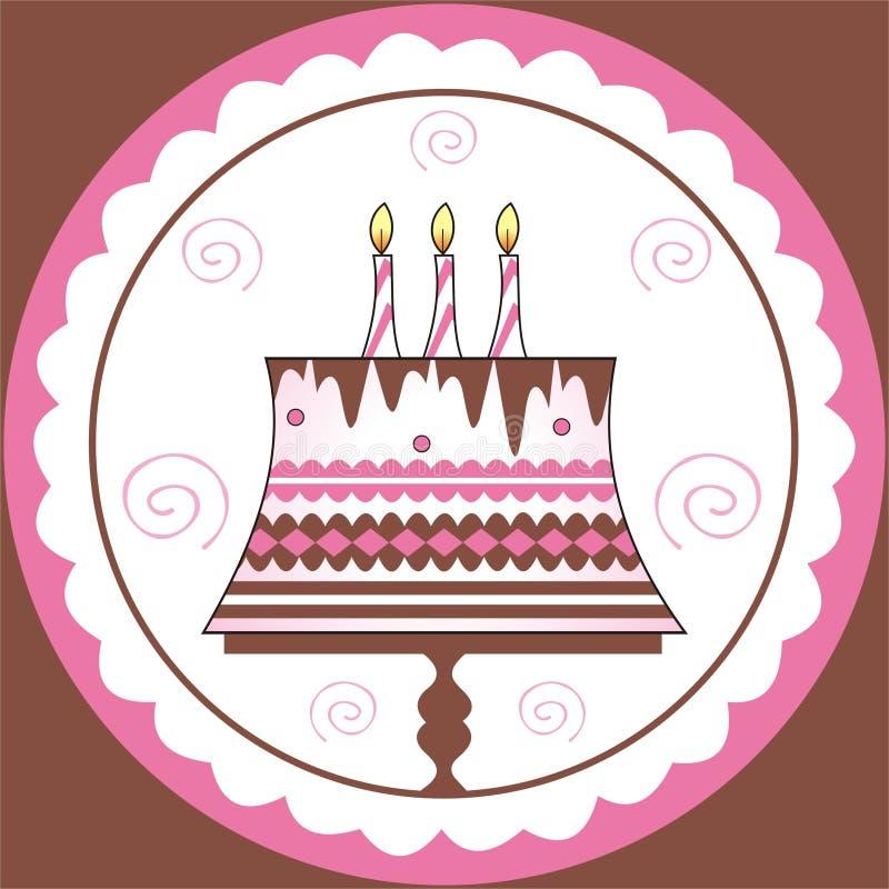 Decoratie op verjaardagscake vector illustratie